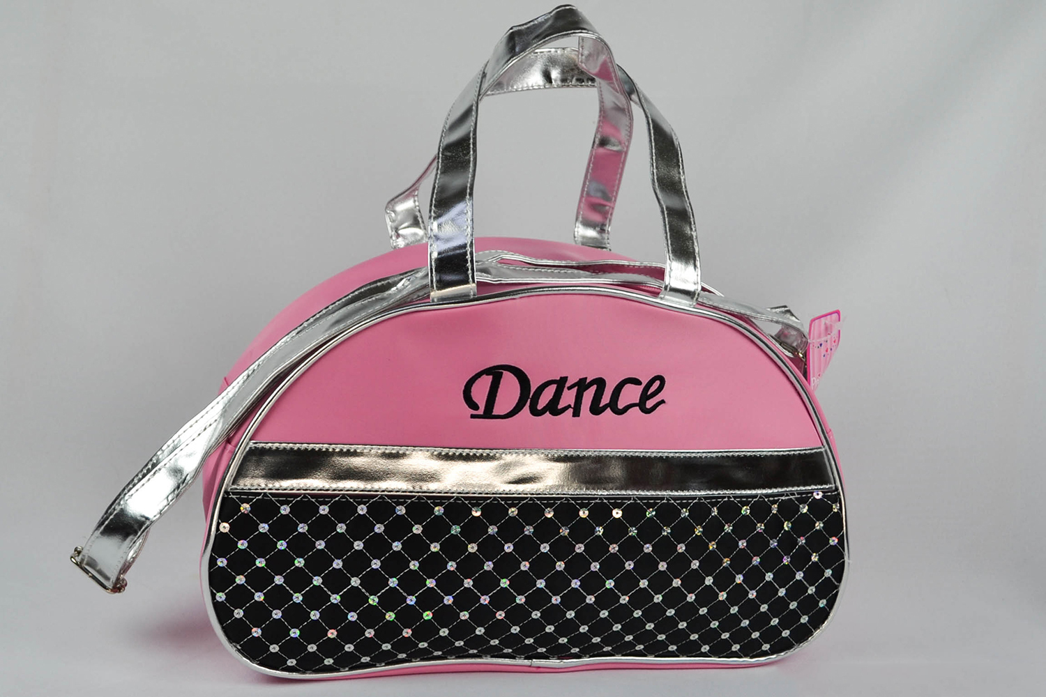 Pink//Black 1PerfectChoice Girls Dance Bag Half Moon Laser Sequined With Silver Metallic EmbroiderDance L