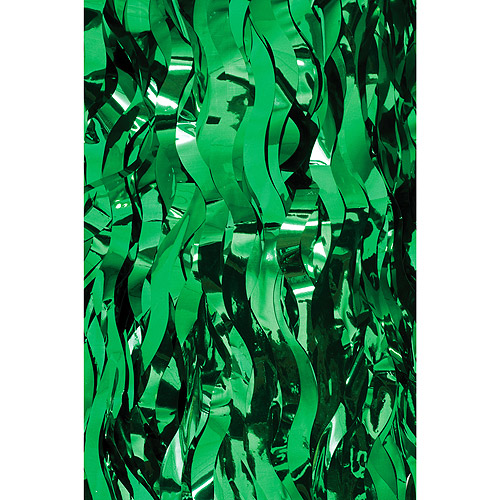 Wavy Foil TableSkirt, Green