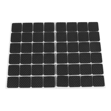 Dilwe 48pcs Black Non Slip Self Adhesive Floor Protectors Furniture Sofa Table Chair Rubber Feet
