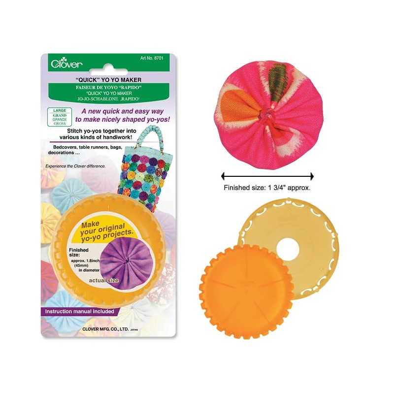 Clover Round Large Yo-Yo Maker Multi-Colored