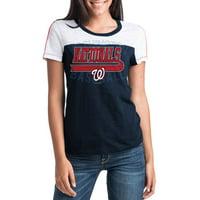 MLB Washington Nationals Women's Short Sleeve Team Color Graphic Tee