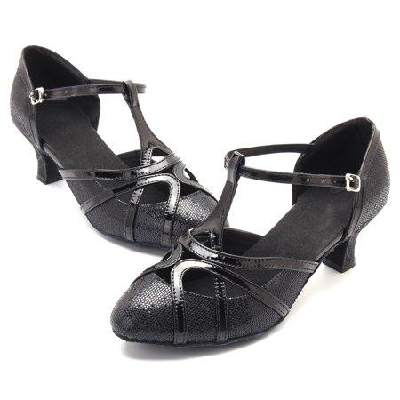 nis women dance shoes ballroom latin tango salsa buckle