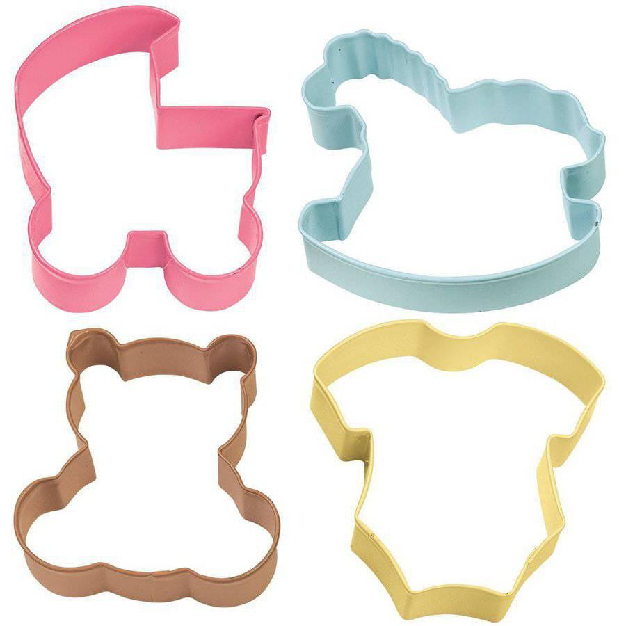 Wilton Metal Cookie Cutter Set, Baby Theme 4 ct. 2308-1067