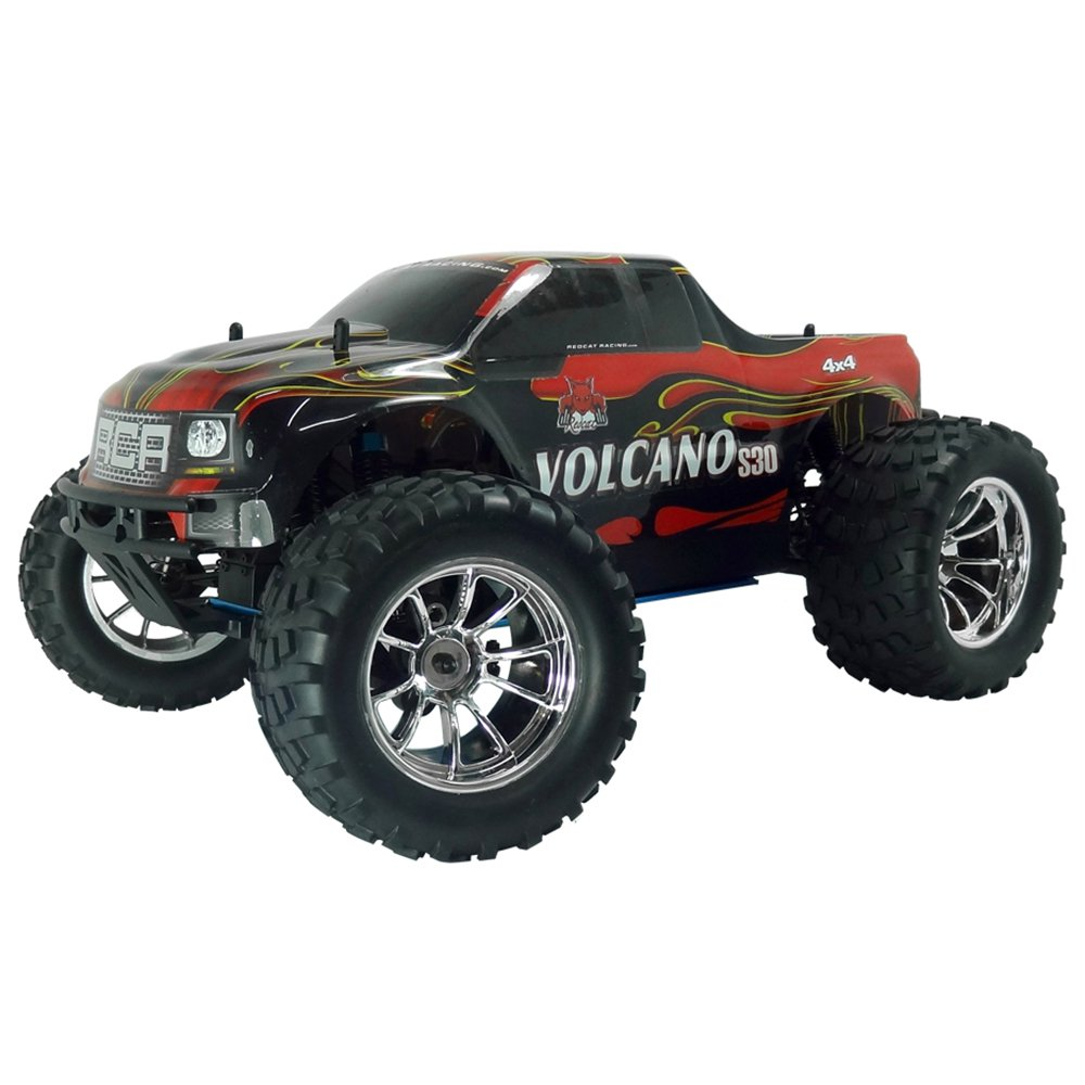 Redcat Racing Volcano S30 1:10 Scale 75cc Nitro Motor RC Monster Truck, Red by Redcat Racing