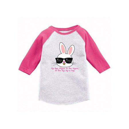 Awkward Styles Hip Hop Easter Bunny Toddler Raglan Easter T Shirt Kids Easter 3/4 Sleeve Shirt Easter Holiday Tshirt for Toddler Boys Easter Party Gifts for Kids Easter Outfit for Toddler Girls (Gifts For Geek Girls)