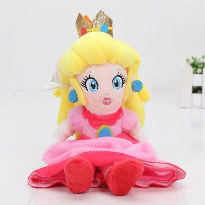 20cm Cute Super Mario Bros Plush Princess Peach Daisy Rosalina plush Xmas Gift](Plus Size Princess Peach)