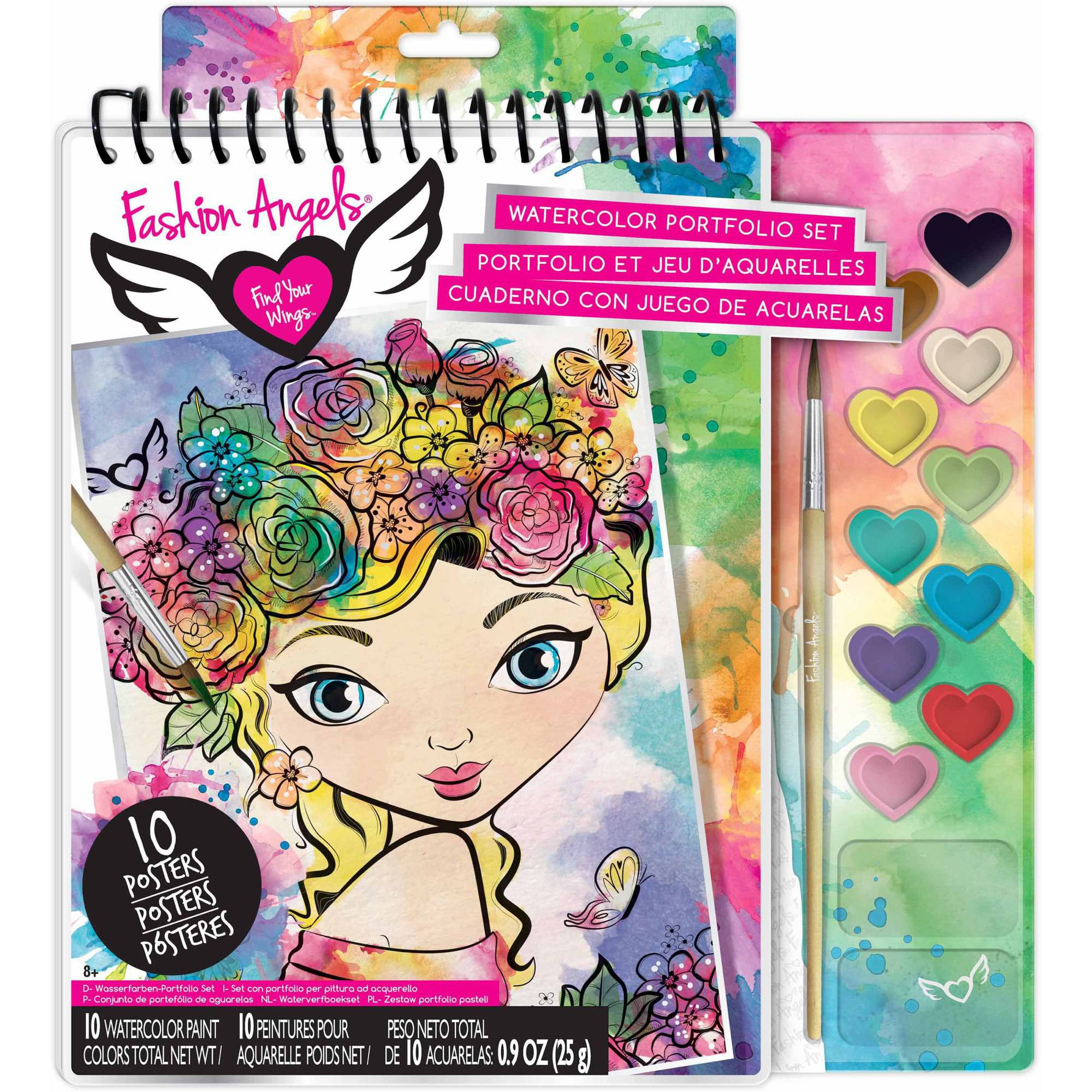 Fashion Angels Watercolor Illustration Set