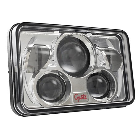 Grote Industries 94401-5 Headlight Assembly - LED Headlight Assembly- LED Sealed Beam; Black Housing; Clear Lens; Single; 4 X 6 Inch/ Replaces H6545/ H4666/ HP6545/ H4668 Sealed Beam Lamps - image 1 de 1