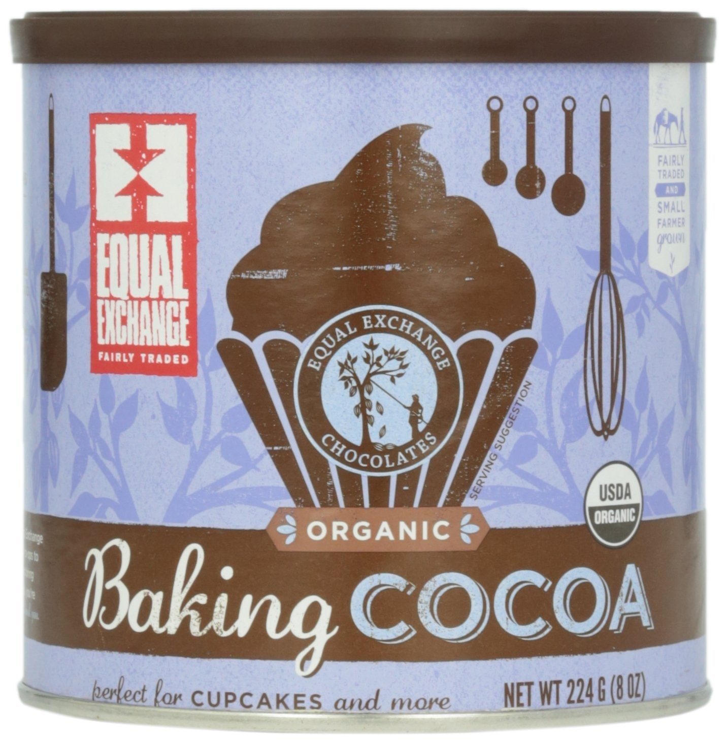 Equal Exchange Baking Cocoa, 8 Ounce Can by Equal Exchange