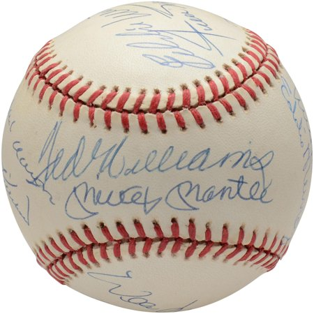500 Home Run Club Autographed Vintage Baseball with 12 Signatures - BAS A68267 Graded 9 - Fanatics Authentic