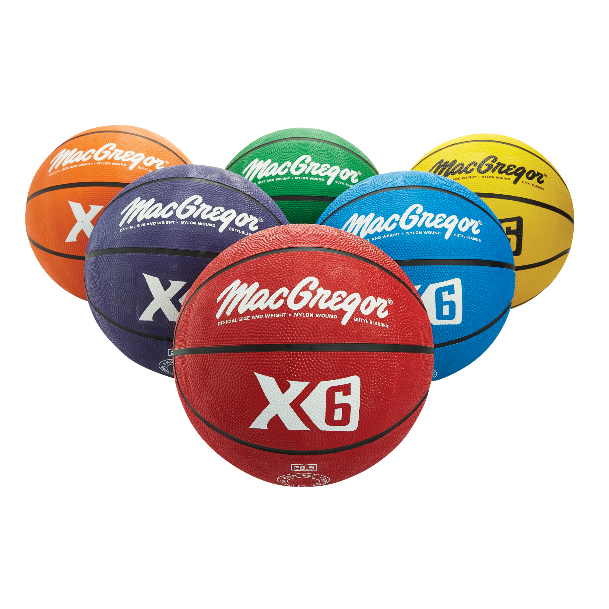 Macgregor Multi-Color Basketball Official 6-Piece Prism Pack