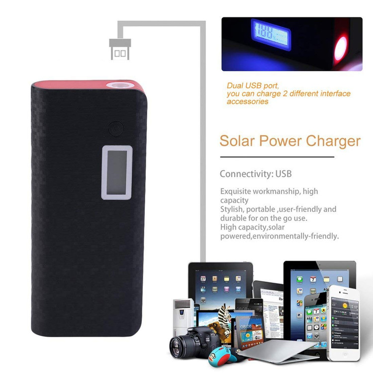 Power Bank For Smartphones Laptops For Iphone-50000mAh 2 USB USB Digital Charger External Power Bank Portable Charger Battery Charger- Digital Power Bank Portable Battery Charger