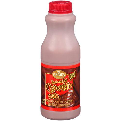 Kemps 2% Reduced Fat Chocolate Milk, 1 pt