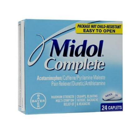 Midol Menstrual Complete Caplets 24 ea (Pack of 2)