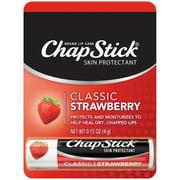 ChapStick Classic Moisturizing Lip Balm Tube, Strawberry Flavor, 0.15 Oz, 12 Pack