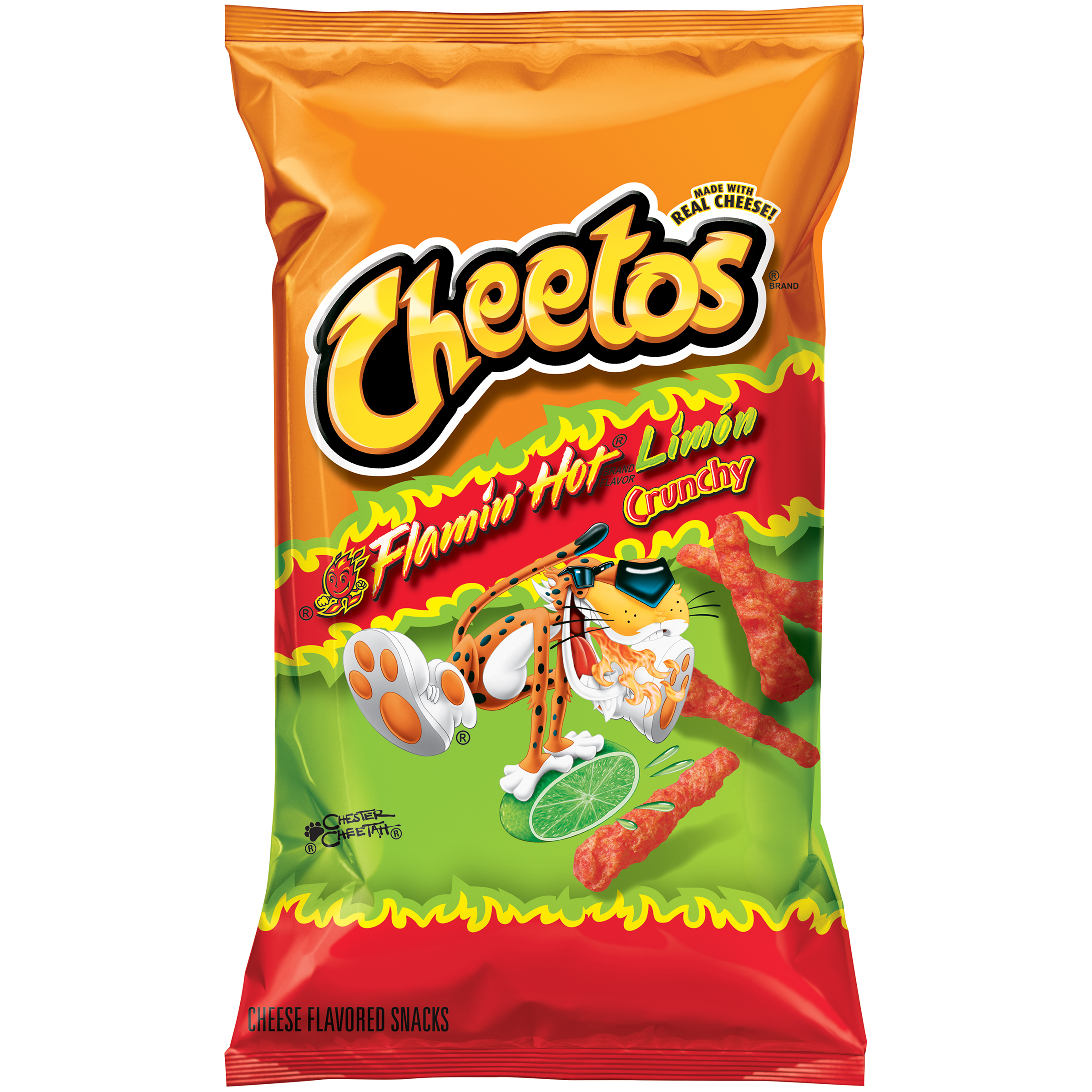 Cheetos® Flamin' Hot® Limón Crunchy Cheese Flavored Snacks 8.5 oz. Bag