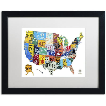 Trademark Fine Art \'License Plate Map USA 2\' Canvas Art by Design ...