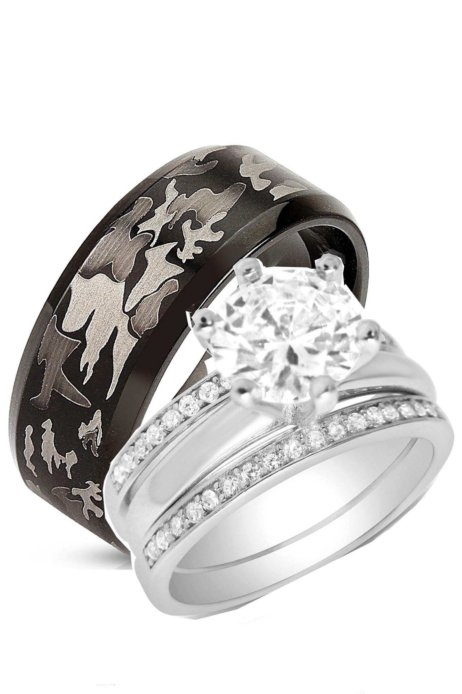 Laraso Co His Her Sterling Silver 1 Carat Cz Bridal Set