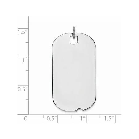 Argent 925 Engraveable Dog Tag poli avant / arri?re disque Pendentif / Breloque - image 1 de 2