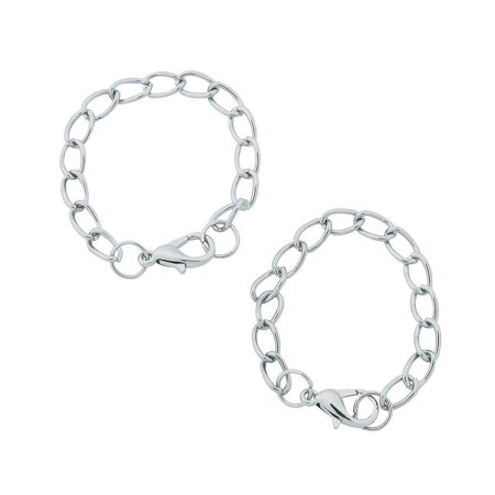 Fun Express - St Wine Chain Charm Ringss - Craft Supplies - Adult Beading - Beading Components - 24 Pieces