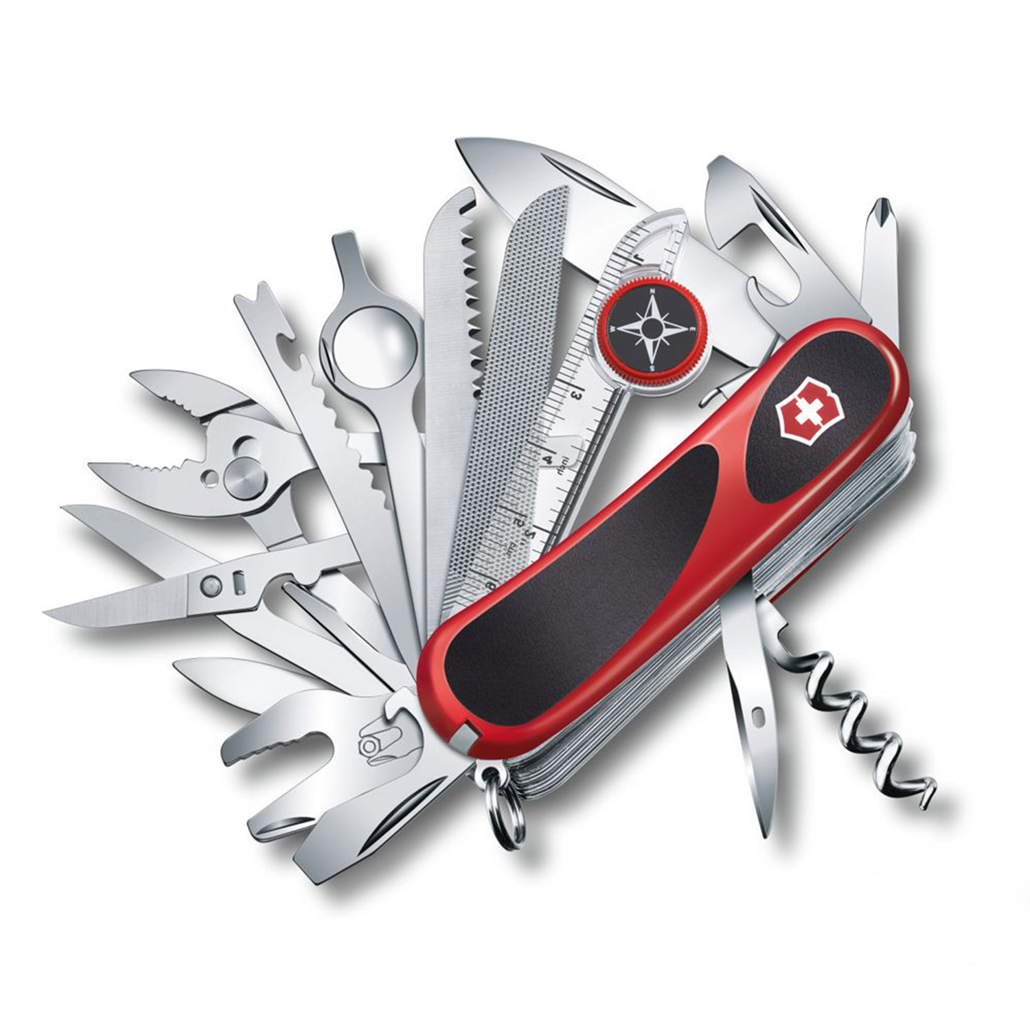 Click here to buy Swiss Army Knife Victorinox EvoGrip S54 Pocket Multi Tool Red Black by Victorinox Swiss Army.