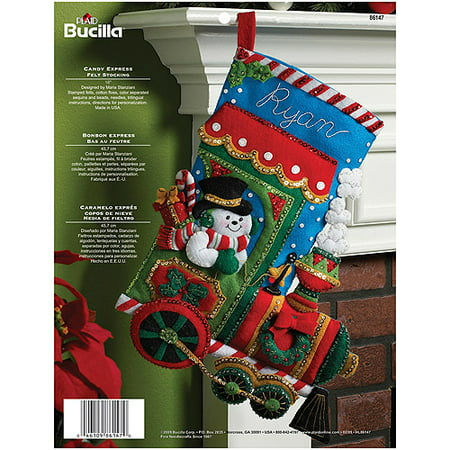 Bucilla Felt Applique Stocking, Candy Express