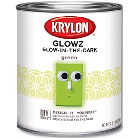 Part 5221 Paint 32 Oz Gn Glow Z Brush-On, by Krylon, Single Item, Great Value, N](Glow In The Dark Paint Halloween)