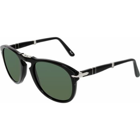 PO 714 95/58 54mm Shiny Black/Green Polarized Folding (Persol 714 Glasses)
