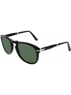 6c03c3cacd Product Image PO 714 95 58 54mm Shiny Black Green Polarized Folding  Sunglasses. Persol