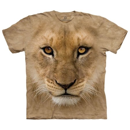 The Mountain Tan Cotton Bf Lion Cub Design Novelty Adult Smithsonian T-Shirt