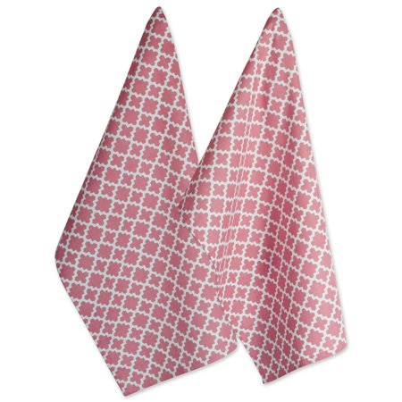DII Rose Lattice Dishtowel (Set of 2), 18x28