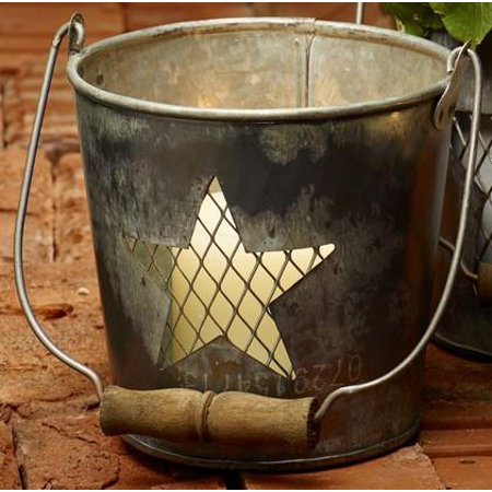 Large Wire Star Metal Bucket