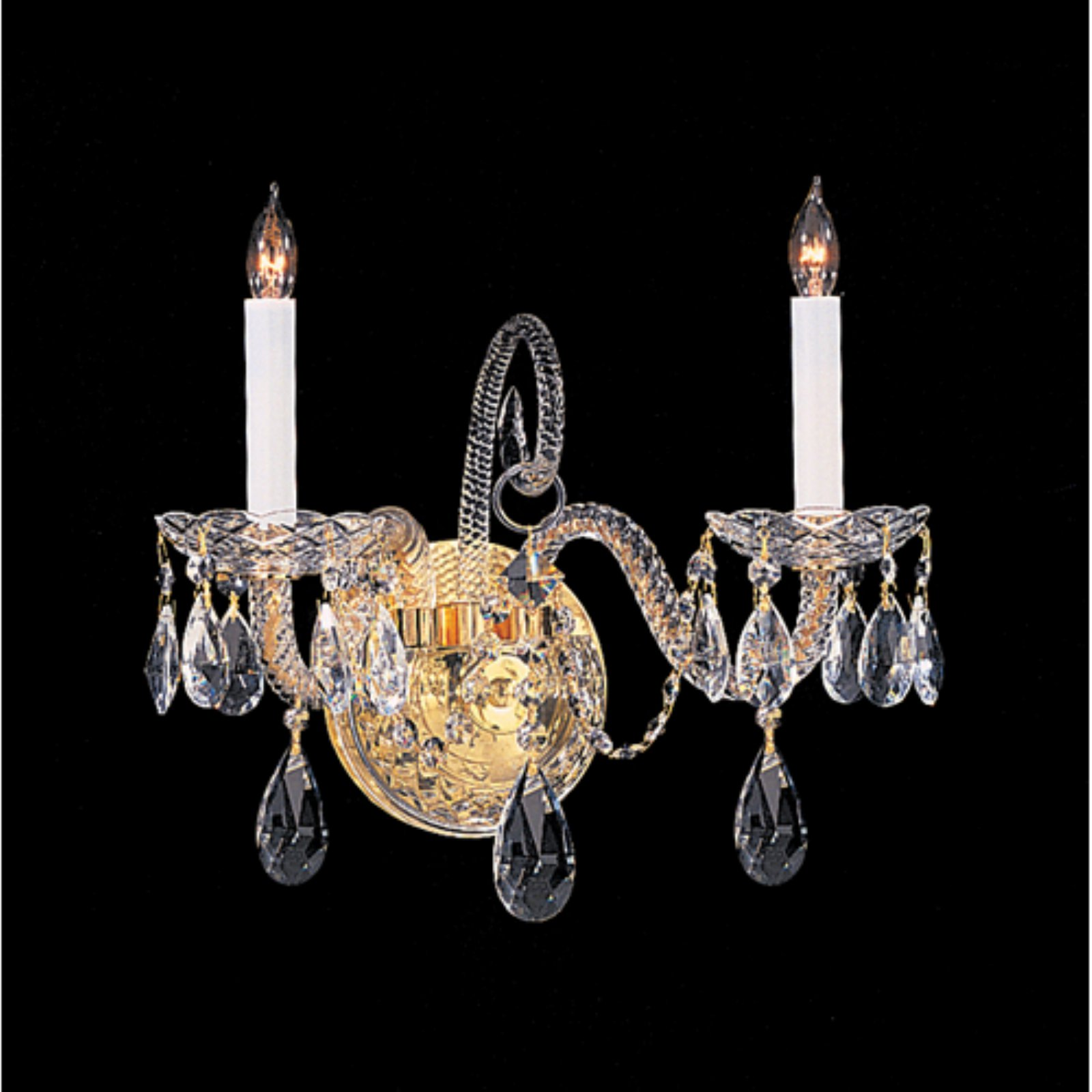 Crystorama Traditional Crystal 5042 2 Light Wall Sconce
