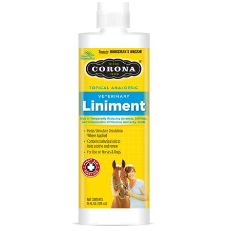Veterinary Horse Liniment - Manna Pro Corona Liniment, 16 oz.