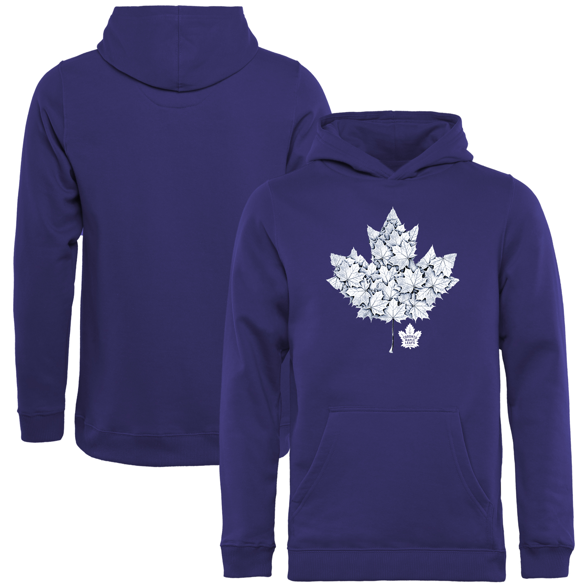 Toronto Maple Leafs Youth Hometown Collection Leafs Pullover Hoodie - Blue