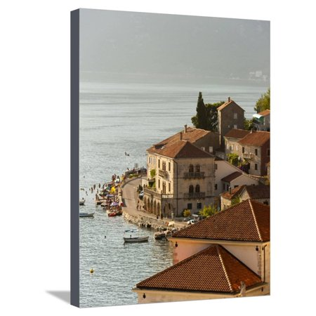 City View of Perast, Bay of Kotor, UNESCO World Heritage Site, Montenegro, Europe Stretched Canvas Print Wall Art By Emanuele Ciccomartino - Party City Official Site