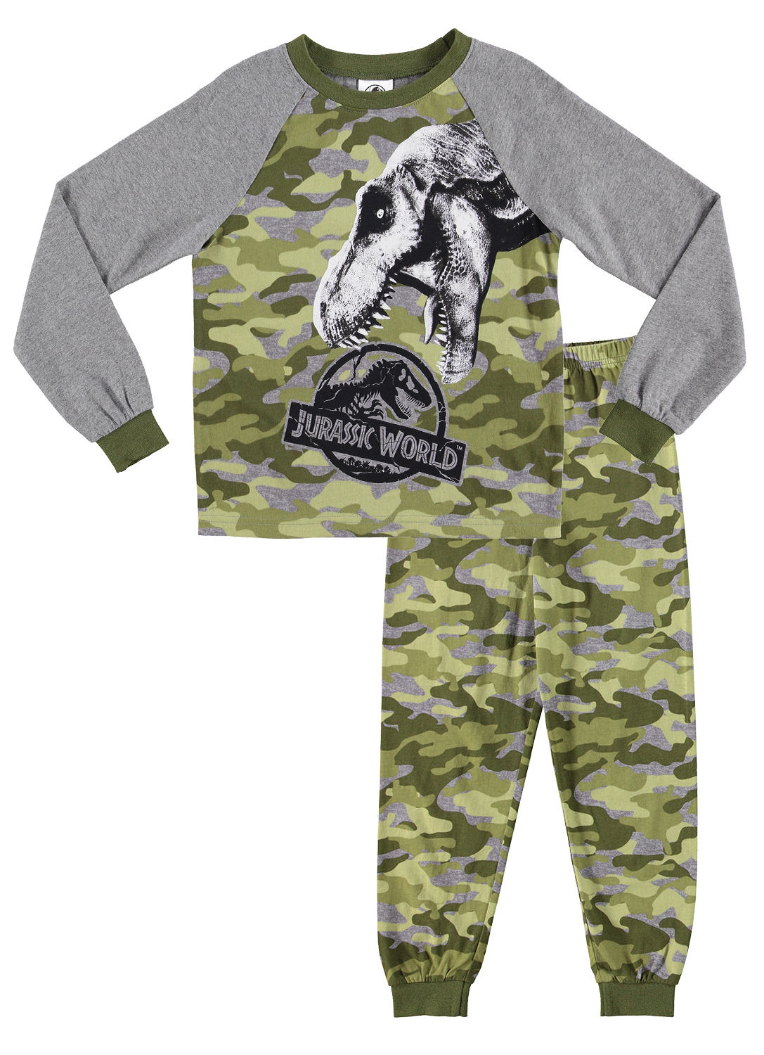 Childrens Boys Jurassic Park Pjs Pyjamas Pajamas Nightwear Sleepwear