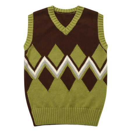 Richie House Boys' sweater vest with Intarisa artwork RH1019-1/2 - Boys Sweater Vest