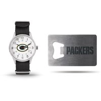 Green Bay Packers Sparo Watch & Bottle Opener Gift Set - No Size