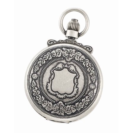 Antique Silver Double Cover Mechanical Pocket Watch