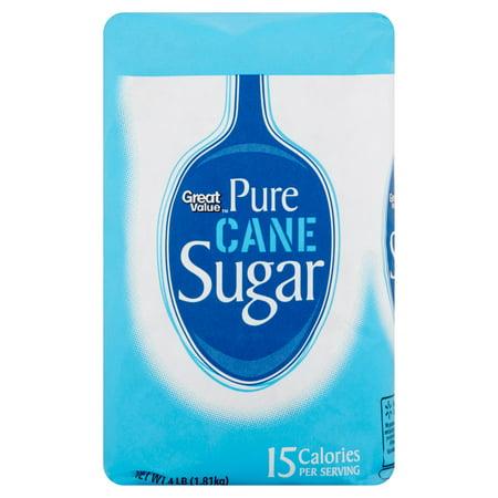Great Value Pure Cane Sugar, 4 lb