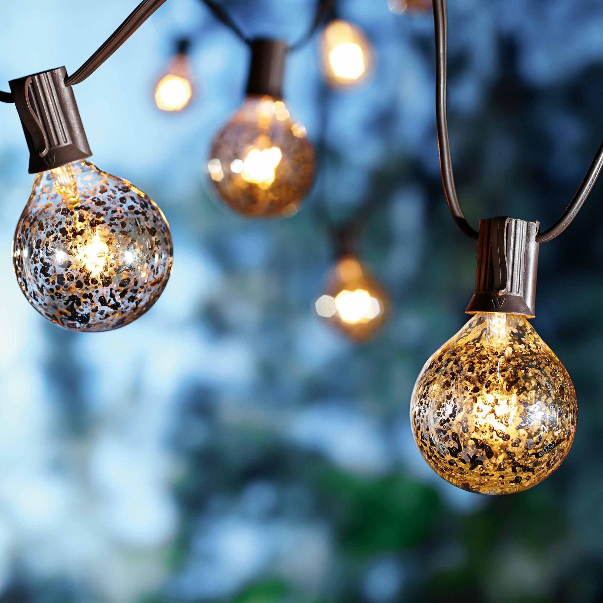 better homes and gardens lighting. better homes and gardens mercury glass g50 bulb 10 lights walmartcom lighting