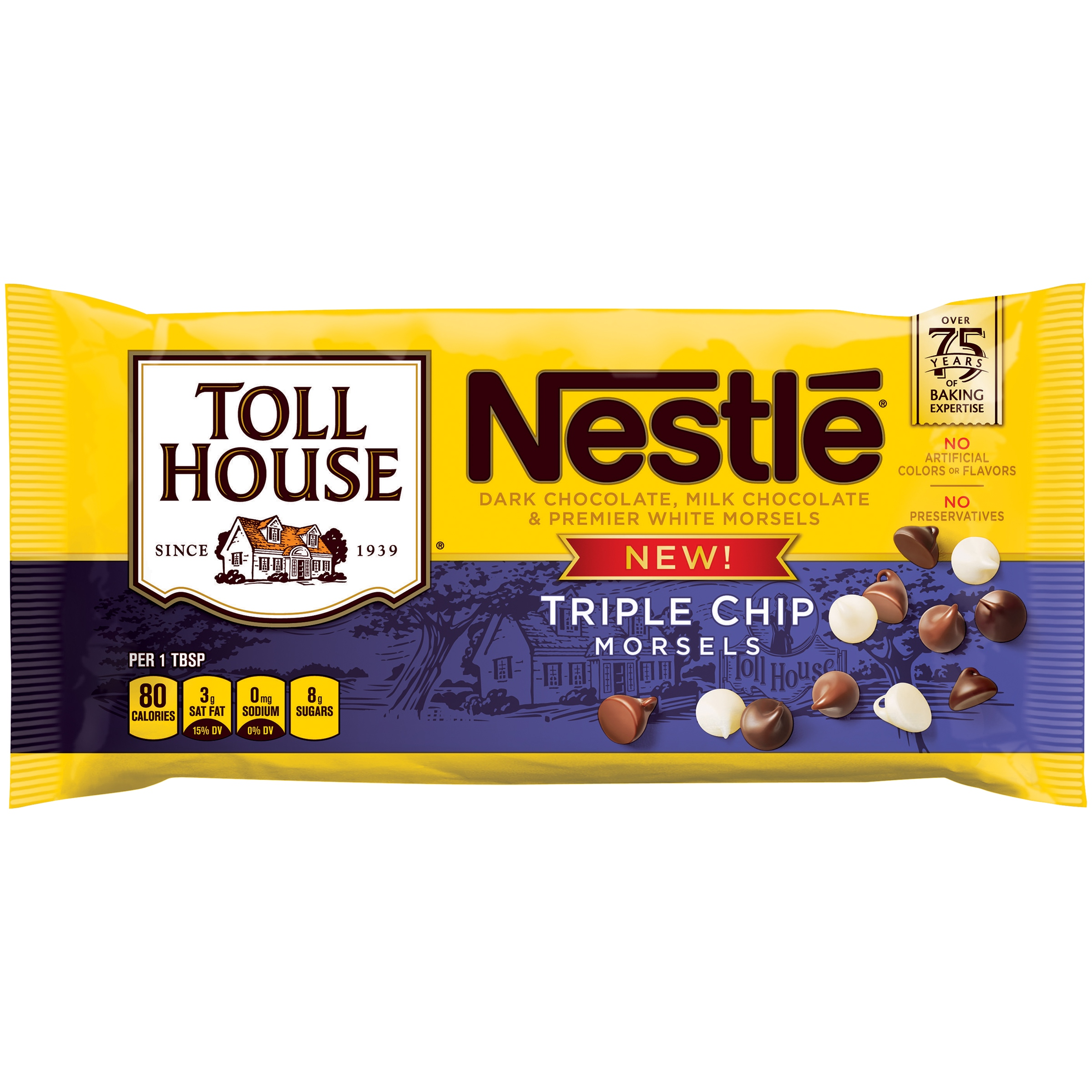NESTLE TOLL HOUSE Triple Chip Morsels 10 oz. Bag