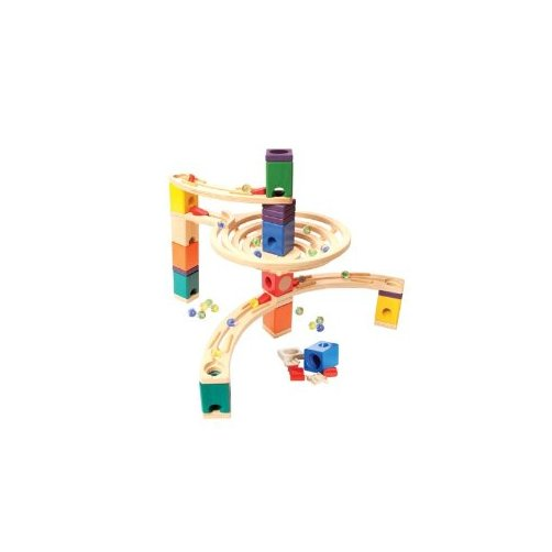 Hape - Quadrilla - Round About - Marble Railway in Wood Multi-Colored