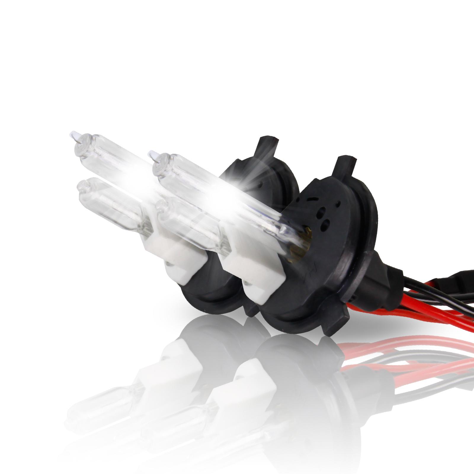 Project RA 35W H4 6000K Xenon White HID Headlight Bulbs - 9003 Hi / Low HID Replacement Bulbs - Pair