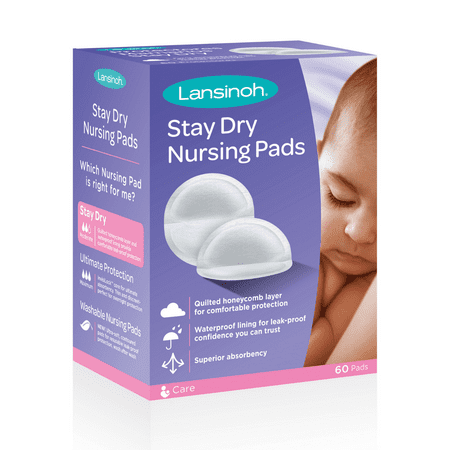 Lansinoh Disposable Stay Dry Nursing Pads, 60