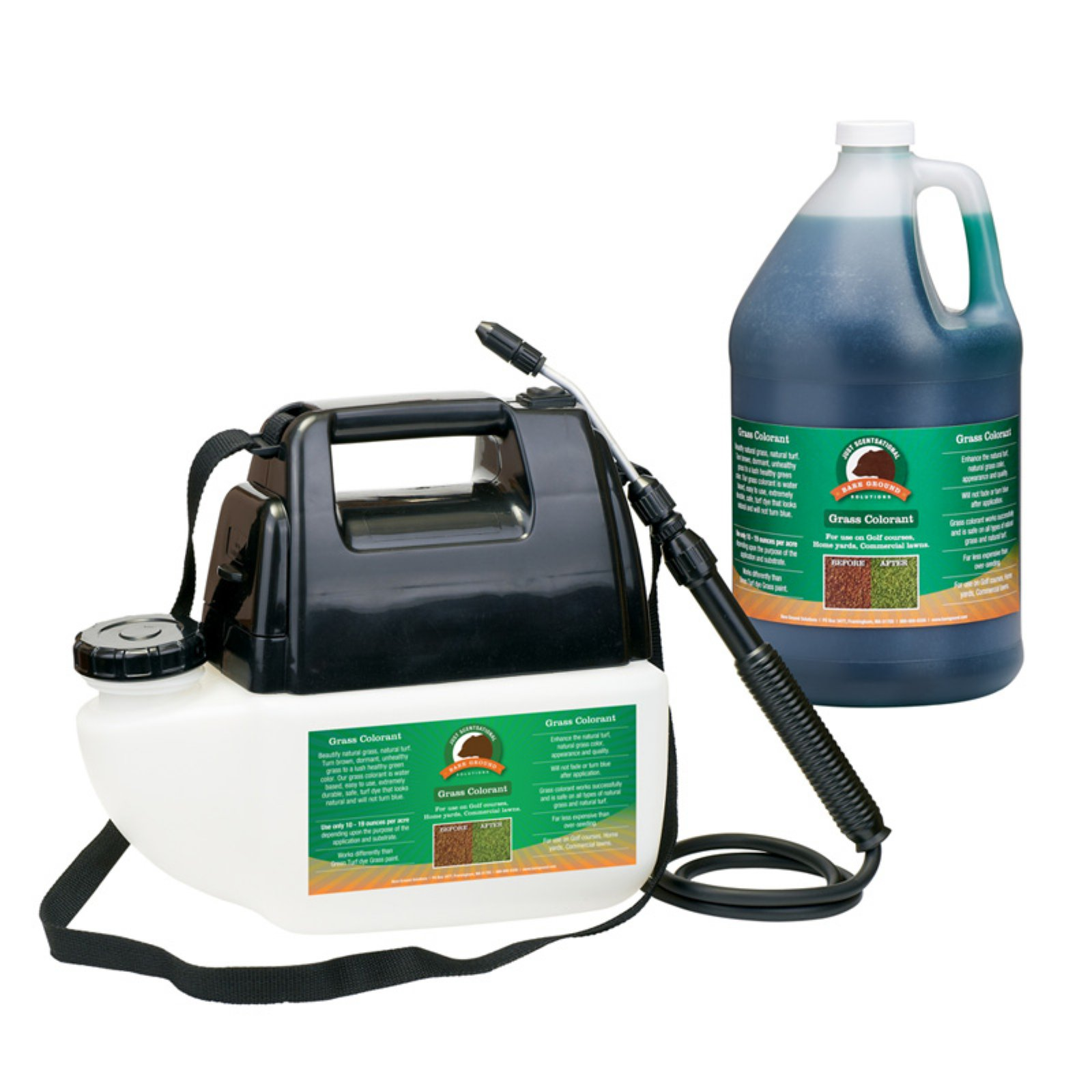 Just Scentsational Green Up Grass Colorant with Battery Powered Sprayer by Bare Ground Systems