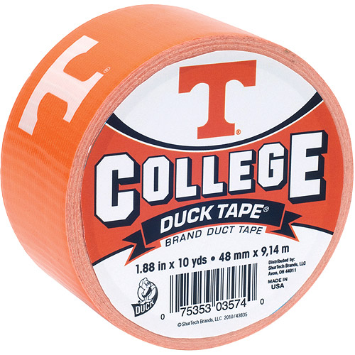 "Duck Brand Duct Tape, College Logo Duck Tape, 1.88"" x 10 yard, Univ. of Tennessee Volunteers"