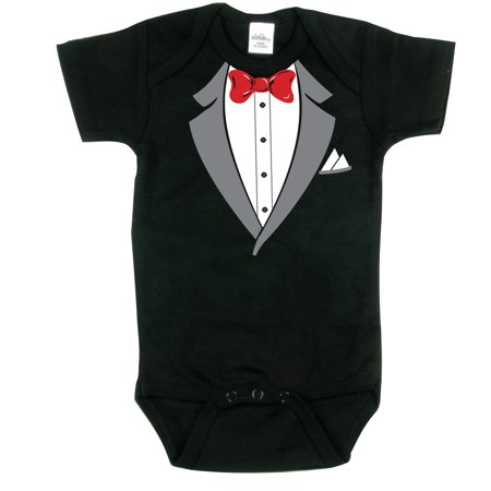 Nursery Decals and More Brand: Tuxedo Bodysuits, Adorable Baby Outfit, Black 0-3 mo