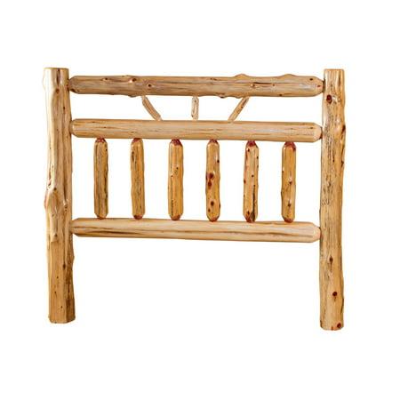 Furniture Barn USA™ Rustic Red Cedar Log Wagon Wheel Style Headboard
